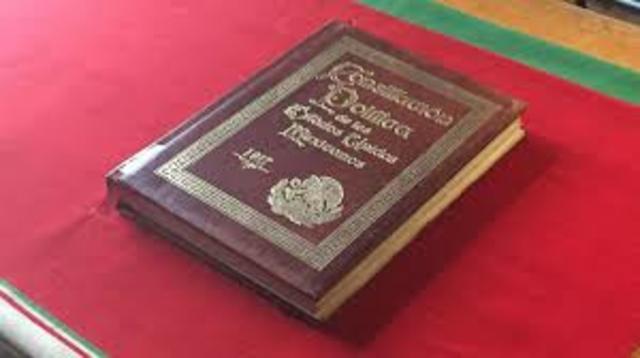Constitución Política de los Estado Unidos Mexicanos.