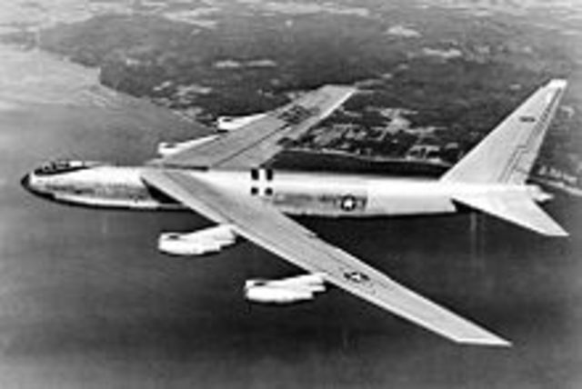 First B-52 prototype test flight was made