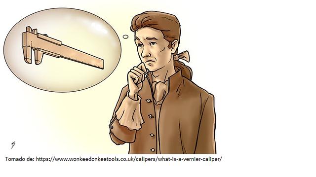 Origen del calibrador Vernier