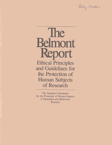 El Informe Belmont.
