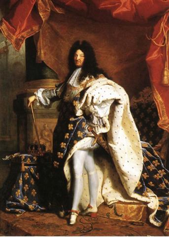 Louis XIV takes rule of Franc