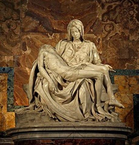 Michaelanglo scuplted the Pieta