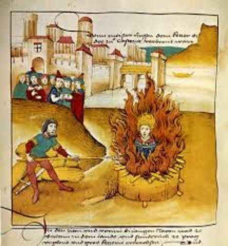 Jan Huss was burned at the stake for being a heretic