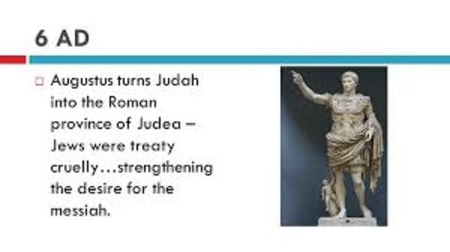 Augustus makes Judah a Roman Province