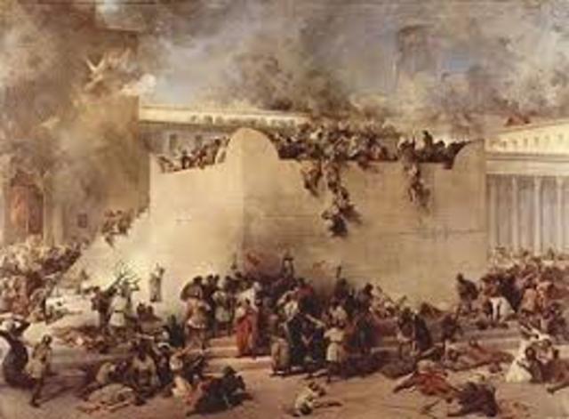 Romans force Jews out of Jerusalem