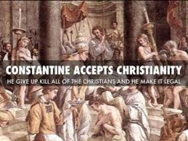Constantine accepts Christianity