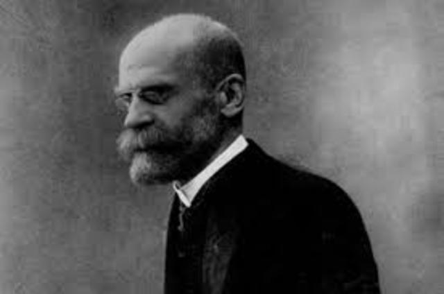 Época socialista  Emilio Durkheim (1858-1917)