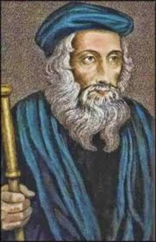 John Wycliffe argued the bible was the highest religious authority-not the pope