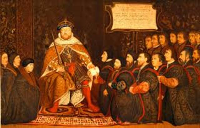 Henry VII became the head of the anglican church