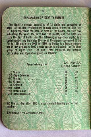 Population Registration Act No. 30