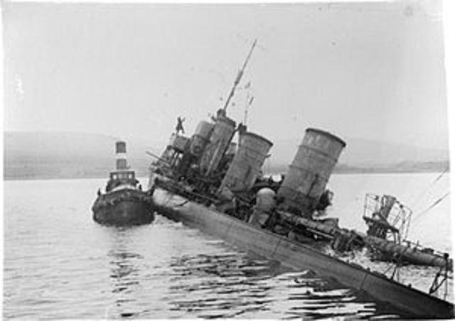 Barco hundido por alemanes
