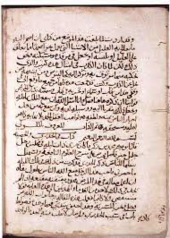 Al-Razi writes medical texts