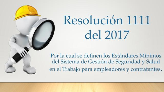 (2017) Resolución 1111 de 2017