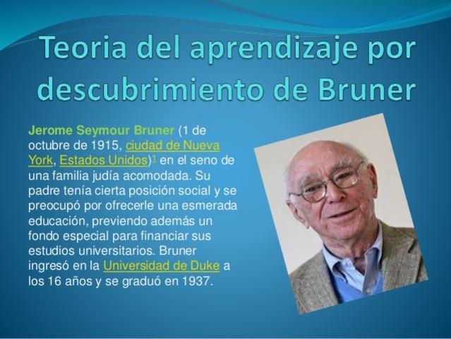 APRENDIZAJE POR DESCUBRIMIENTO. J. BRUNER