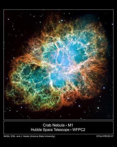 1054: Aparece la nebulosa del cangrejo (Crab Nebula)