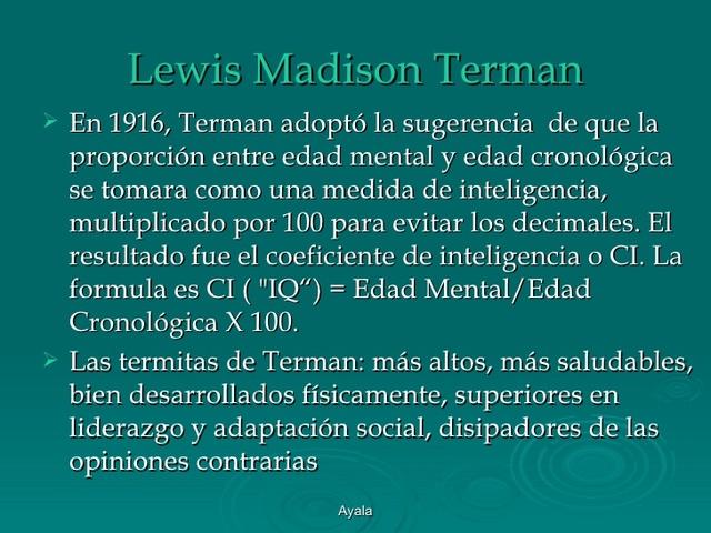 Test de Inteligencia de Lewis Terman