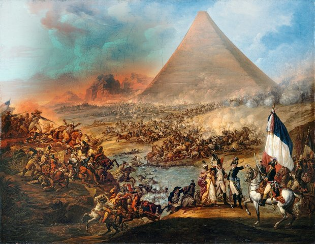 Napoleon inicia campaña en Egipto.