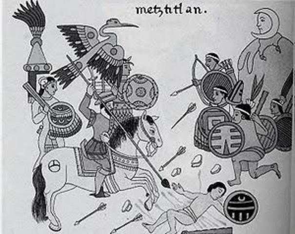 La rendición de México Tenochtitlan
