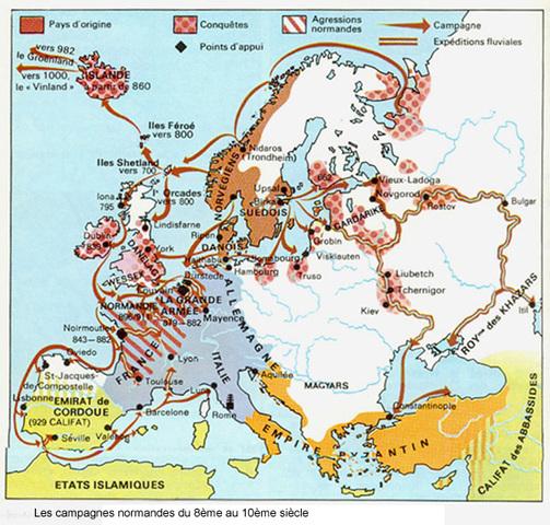 Début des invasions normandes