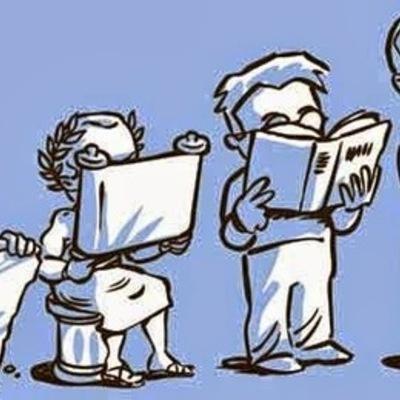 Evolução das tecnologias na escrita e na educação timeline