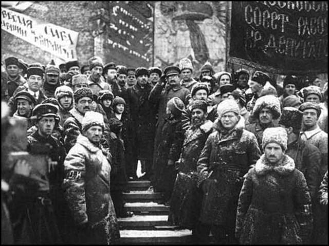 Conquista del poder por los bolcheviques