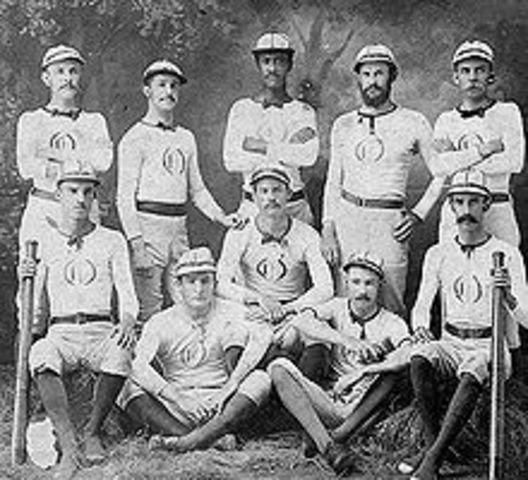 First Professional Baseball Team