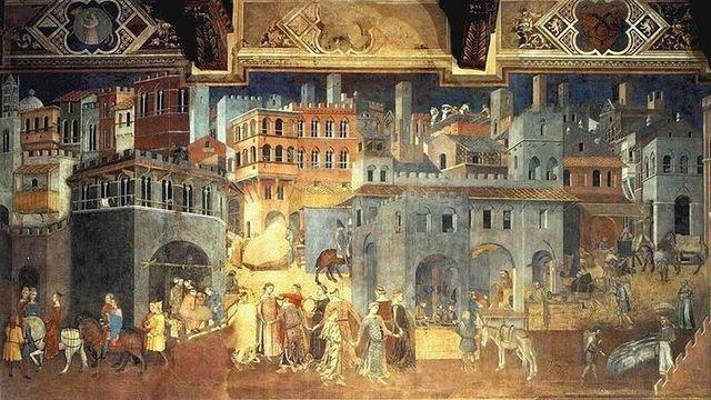 Une grave crise bancaire touchait le marché du crédit à Sienne