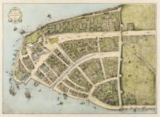 New Amsterdam founded by the dutch