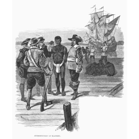 African Slaves Sold in Jamestown