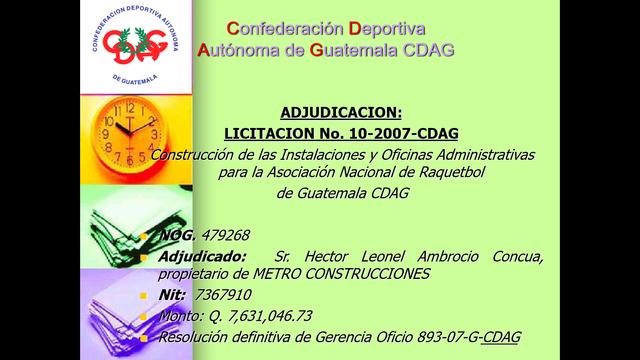 Adjudicación licitación a Metro Construcciones