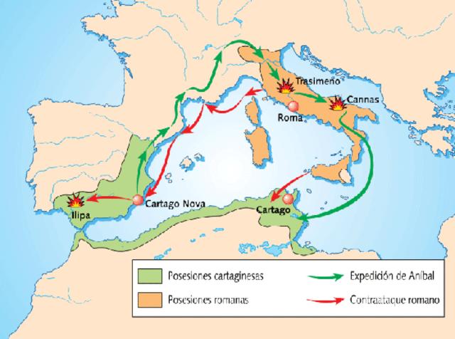 225 a.C, Tratado del Ebro entre Roma y Cartago.