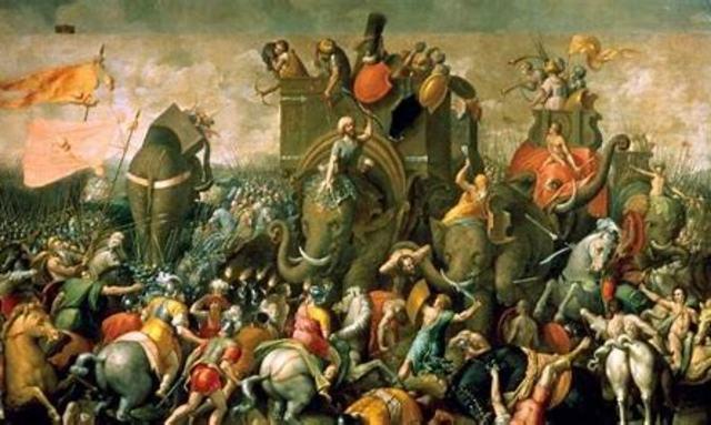 218 a.C. Comienzo de la Segunda Guerra Púnica.