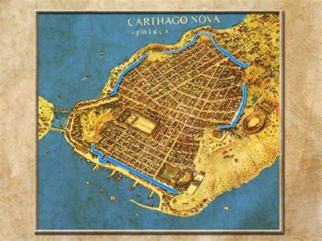 209 a. C. Conquista de Cartagonova por parte de los romanos.