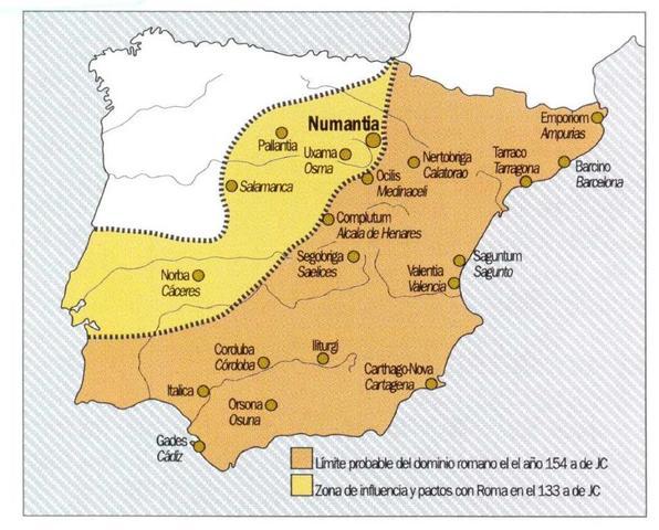 155 a. C. Comienzo de las Guerras Celtíberas.