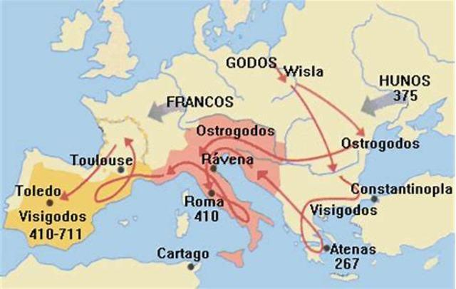 414 d.C. Llegada de los visigodos.