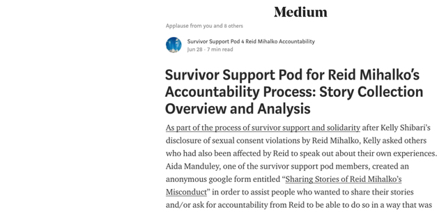 Survivor Support Pod Publishes 2nd Post