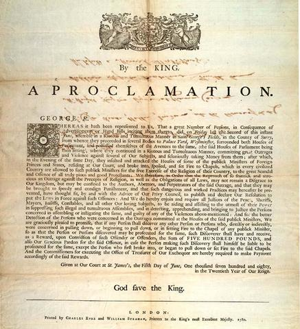 The Proclaimation of 1763