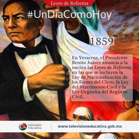 Leyes de Reforma 1859 -1860