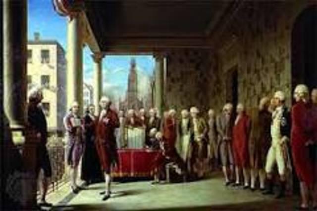 Election (Inauguration) of George Washington
