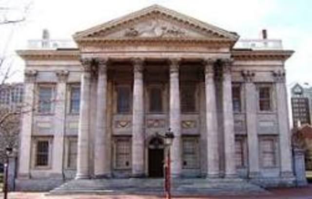 First Bank of the United states chartered
