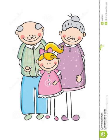 my grandparents and I will walk tomorrow morning