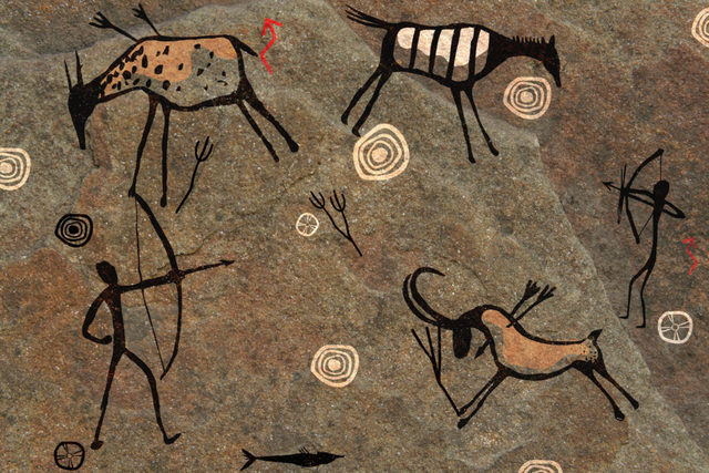 Cave paintings & stone carvings