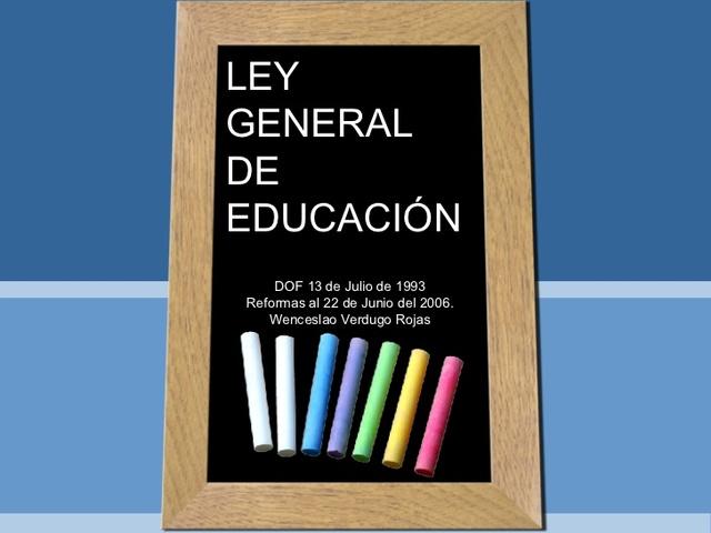 REFORMA AL ARTÍCULO 41 DE LA LEY GENERAL DE EDUCACIÓN