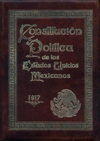 Promulgación de la Constitución Méxicana.