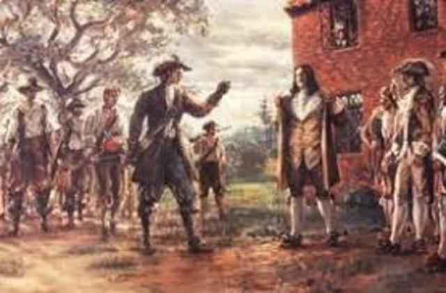 Nathanial Bacon Rebellion