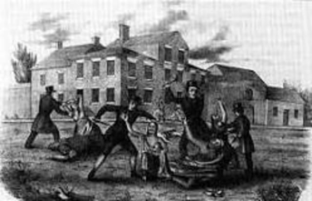 Paxton Boys Attack Pennsylvania Indians