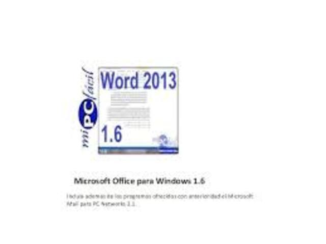 Microsoft Office para Windows 1.6