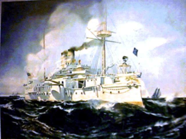 USS Maine Explodes in Havana Harbor