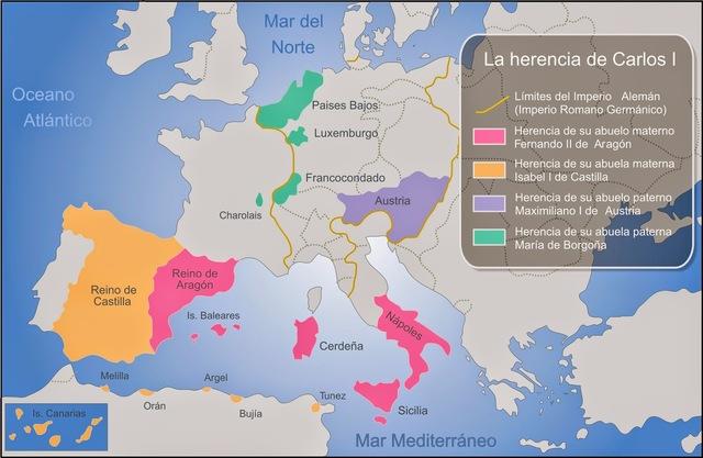 Herencia de Carlos I de España y V de Alemania