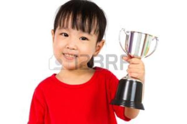 Mis trofeos en tercero de kinder  de spelling be